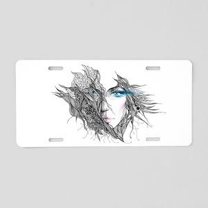Artistic Female Face Aluminum License Plate