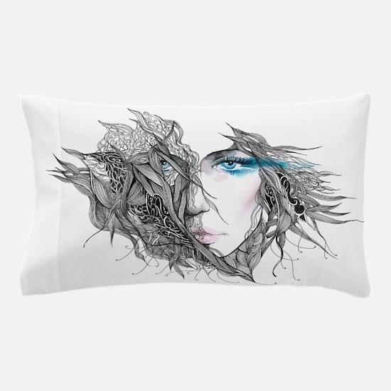 Artistic Female Face Pillow Case