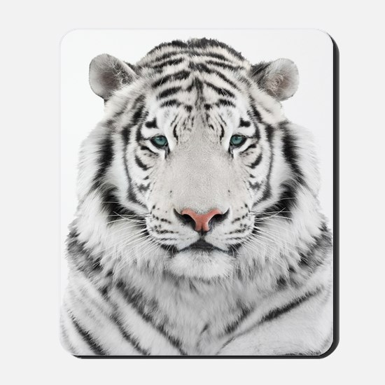 White Tiger Head Mousepad