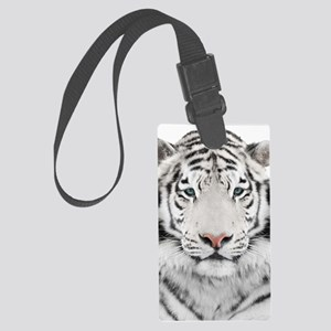 White Tiger Head Large Luggage Tag