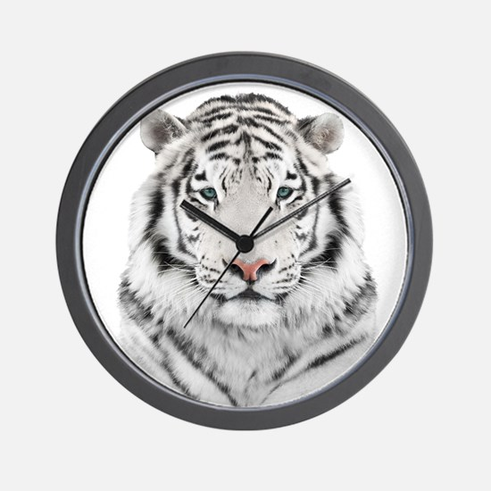 White Tiger Head Wall Clock