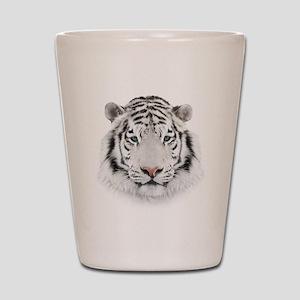 White Tiger Head Shot Glass