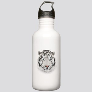 White Tiger Head Stainless Water Bottle 1.0L