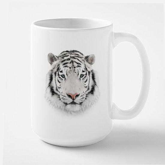 White Tiger Head Large Mug