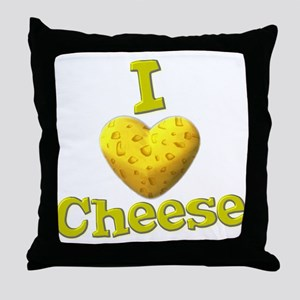 funny cute i heart love cheese cheesey heart Throw