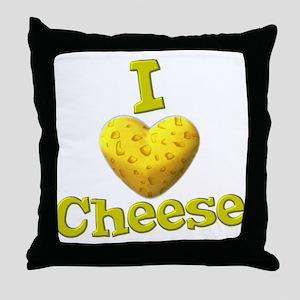 funny cute i heart love cheese cheesey heart Throw
