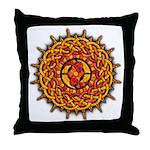 Celtic Knotwork Sun Throw Pillow