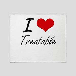 I love Treatable Throw Blanket