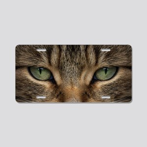 Tabby Cat Face Aluminum License Plate