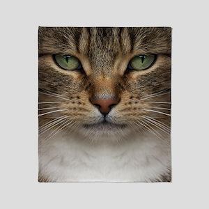 Tabby Cat Face Throw Blanket