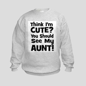 thinkimcute_aunt_black Sweatshirt