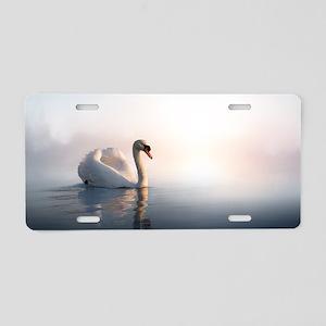 Swan Sunrise Aluminum License Plate