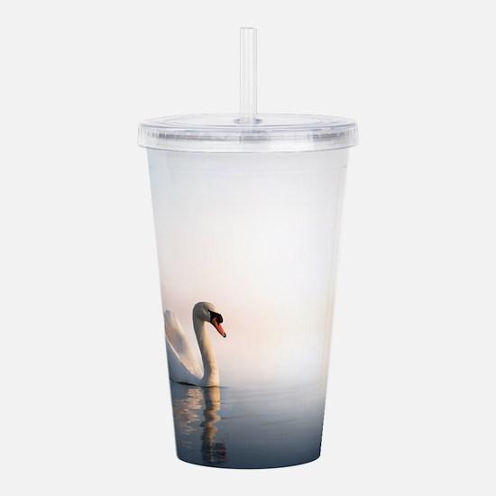 Swan Sunrise Acrylic Double-wall Tumbler