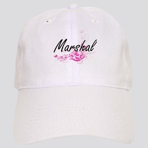 Marshal Artistic Job Design with Flowers Cap