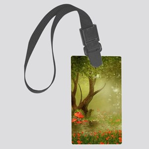 Enchanted Summer Pond Large Luggage Tag