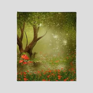 Enchanted Summer Pond Throw Blanket