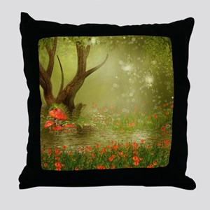 Enchanted Summer Pond Throw Pillow