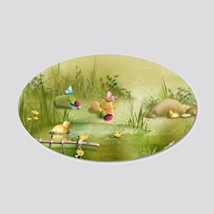 Easter Landscape 20x12 Oval Wall Decal