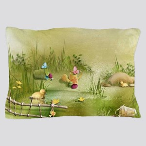 Easter Landscape Pillow Case
