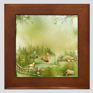 Easter Landscape Framed Tile