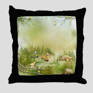 Easter Landscape Throw Pillow