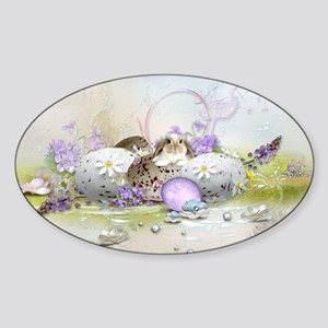 Easter Eggs Sticker (Oval)