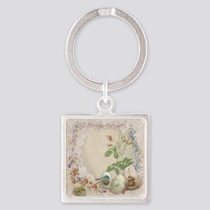 Easter Collage Square Keychain