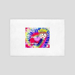 Peace ,Love & Clowns 4' x 6' Rug