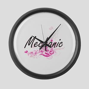 Mechanic Artistic Job Design with Large Wall Clock