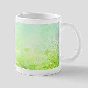 Green Watercolor Floral Mug