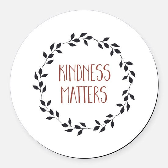 Kindness Matters Round Car Magnet