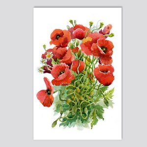 Watercolor Poppies Postcards (Package of 8)
