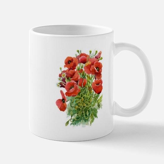 Watercolor Poppies Mug