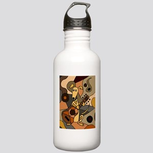 Greyhound Playing Guit Stainless Water Bottle 1.0L