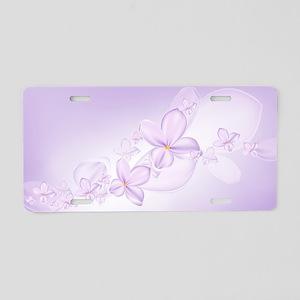 Soft Lilac Flowers Aluminum License Plate