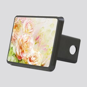 Watercolor Roses Rectangular Hitch Cover