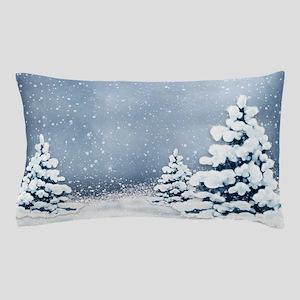 Cute Snowy Pine Trees Pillow Case