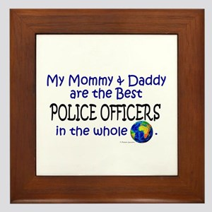 Best Police Officers In The World Framed Tile