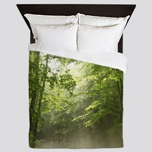 Spring Forest Mist Queen Duvet