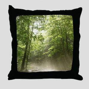 Spring Forest Mist Throw Pillow