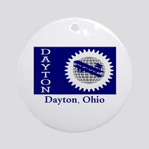 Dayton OH Flag Ornament (Round)