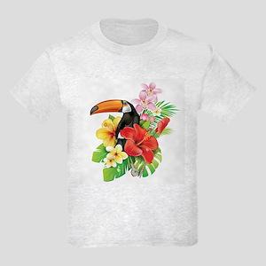 Tropical Toucan Collage Kids Light T-Shirt