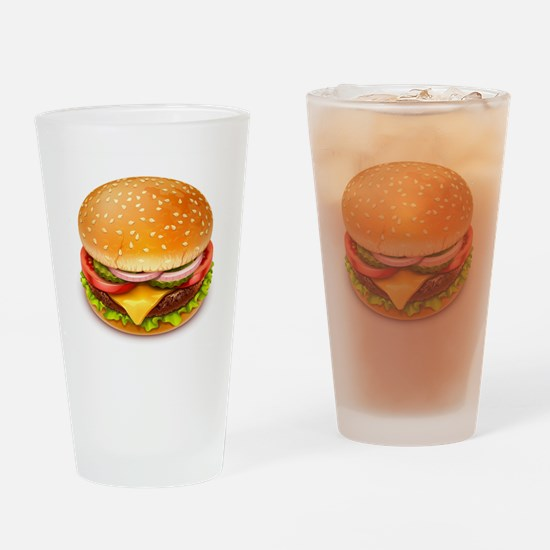 American Burger Drinking Glass