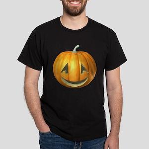 Halloween 3-D Jack-'O-Lantern Dark T-Shirt