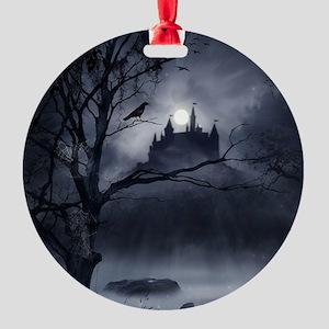 Gothic Night Fantasy Round Ornament