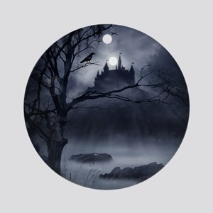 Gothic Night Fantasy Round Ornament