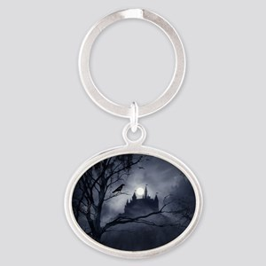 Gothic Night Fantasy Oval Keychain