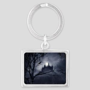 Gothic Night Fantasy Landscape Keychain