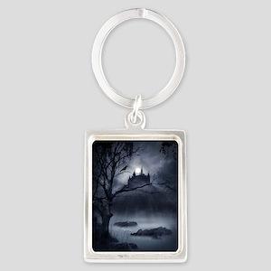 Gothic Night Fantasy Portrait Keychain