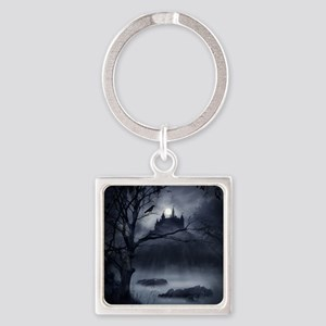 Gothic Night Fantasy Square Keychain